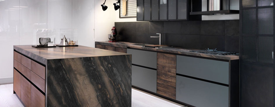 Factory Kitchen With Island Aster Cucine 1